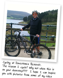 Cycling at Dovestone's Resevoir