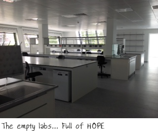 The empty labs - full of HOPE